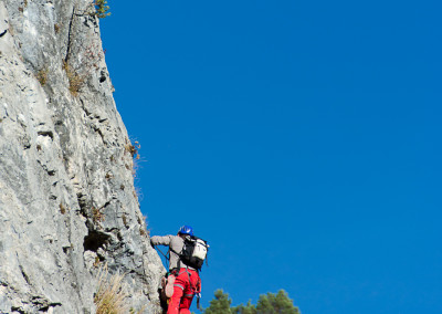 Einstieg Leite Klettersteig