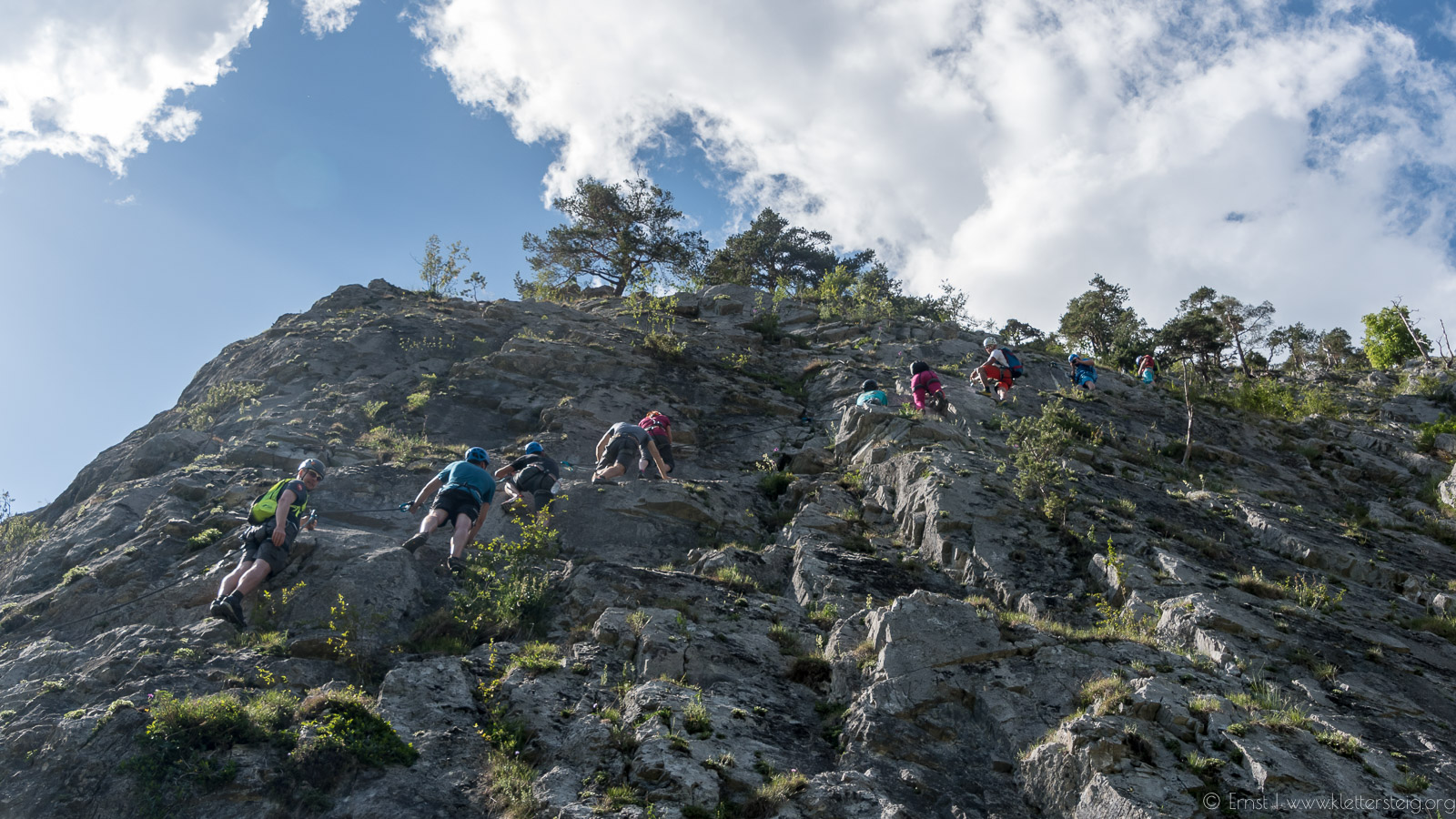 Klettersteig Nassereith : Journalisten besuchen den leite klettersteig