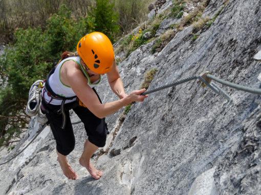 Leite Klettersteig | ein strahlender Tag am 10. April vor Jahren