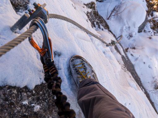 Leite Klettersteig | Vergleich des 4.12.2010 mit dem 4.12.2020